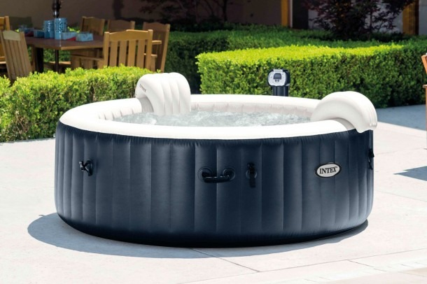 Intex Pure Spa 4 Person Inflatable Portable Heated Bubble Hot Tub