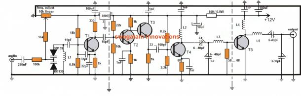 Cell phone jammer circuit diagram , radar detector cell phone jammer