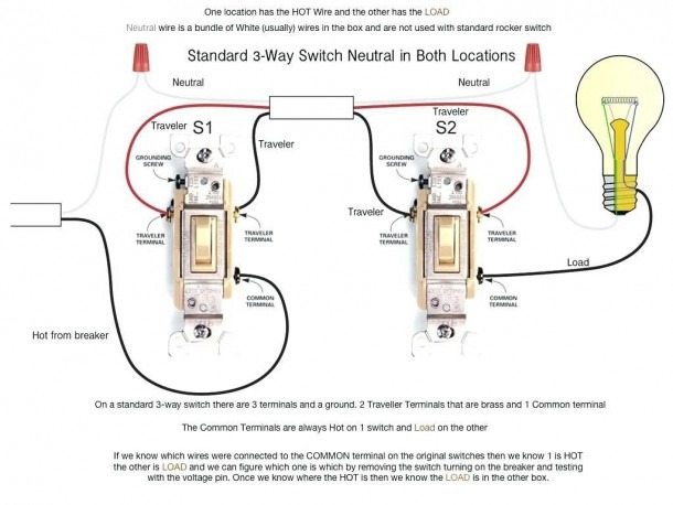 2 Switch 1 Light Wiring Diagram