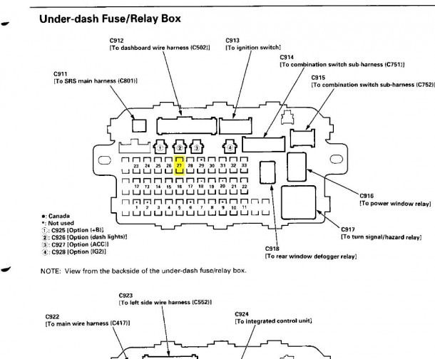 Fuse Diagram 2003 Honda Cr V