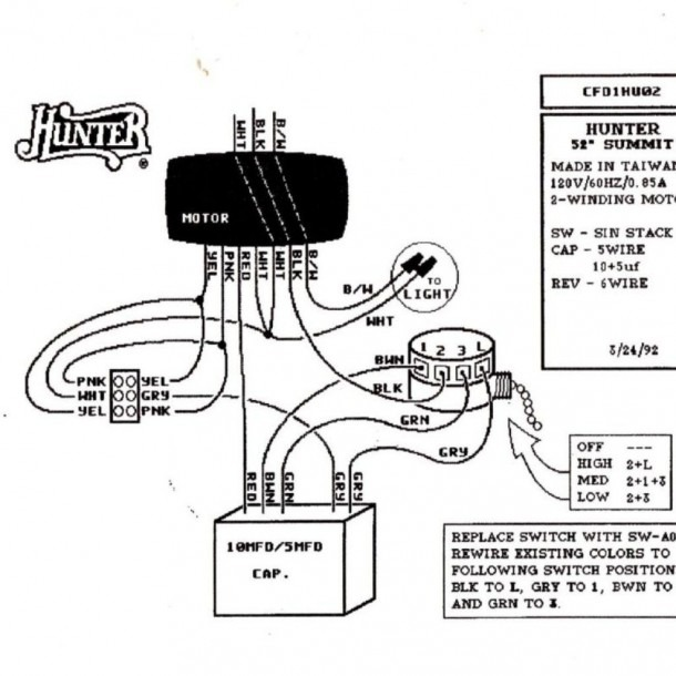 Wire Diagram Hunter Fan