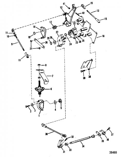 Throttle And Shift Linkage(mercury)(manual)