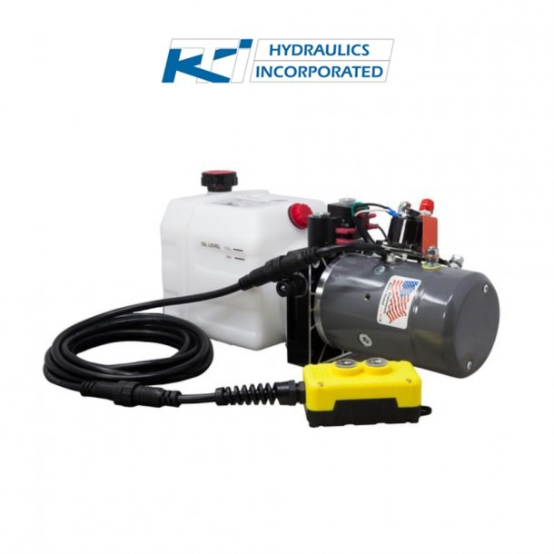 3 Quart 12v Kti Double Acting Hydraulic Pump