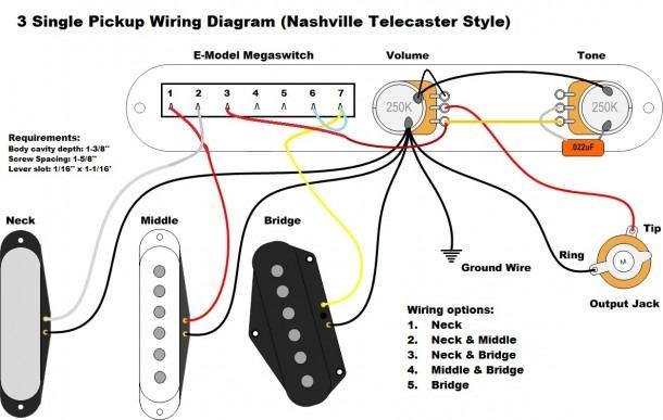 3 Pickup Wiring Diagram
