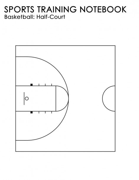 Sports Training Notebook  Basketball  Half Court  For Coaching