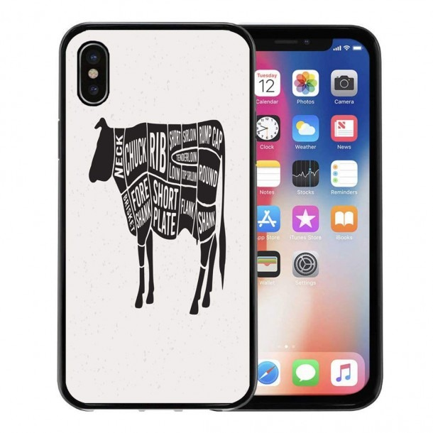 Amazon Com  Semtomn Phone Case For Apple Iphone Xs Case,cow Meat