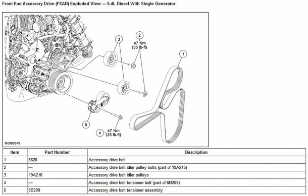 Ford F150 & F250 How To Replace Idler And Tension Pulleys