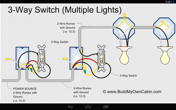 Wiring Diagram 3 Way Switch With 2 Lights For A Extraordinary 3way