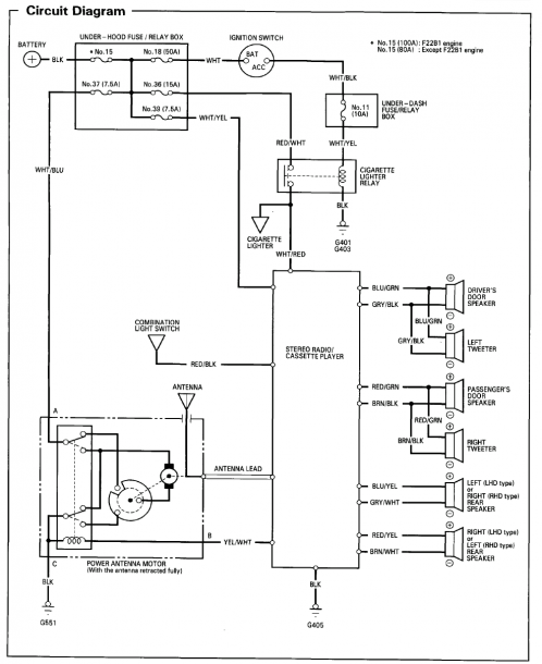 1996 Honda Accord Ignition Wiring Diagram