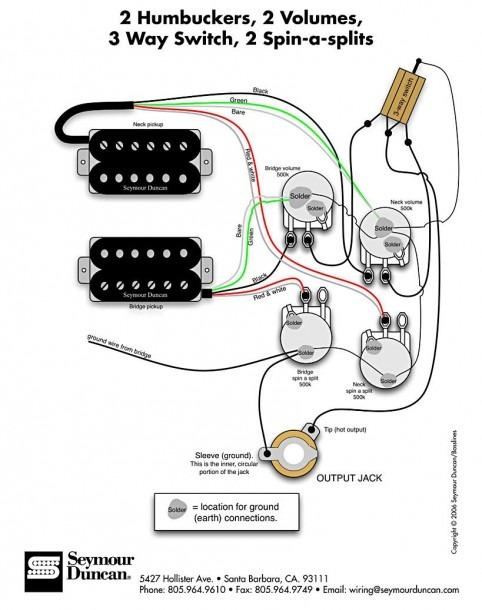 Seymour Duncan Coil Split Wiring Diagrams