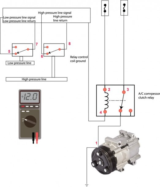 A C Relay Wiring Diagram