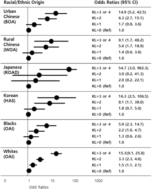 Association Between Radiographic Knee Oa And Knee Pain Severity In