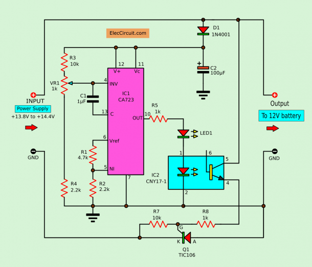 Diagram] Circuit Diagram Battery Charger Using Scr Full Version Hd