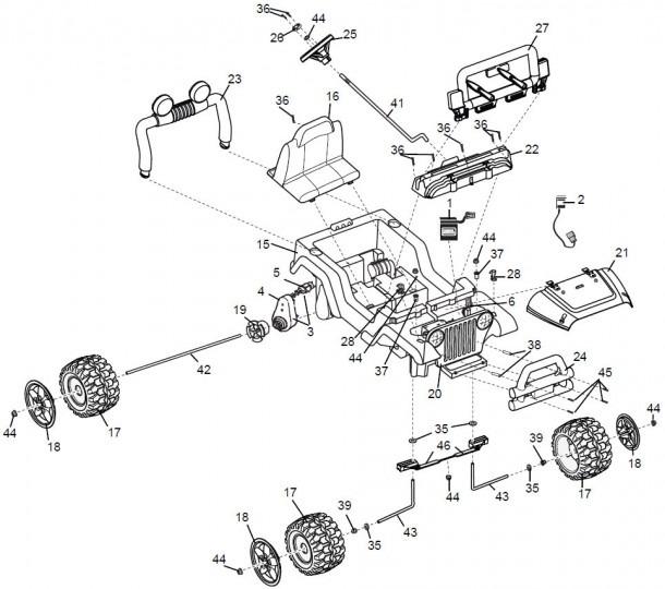 Power Wheels Barbie Jazzy Jeep Parts