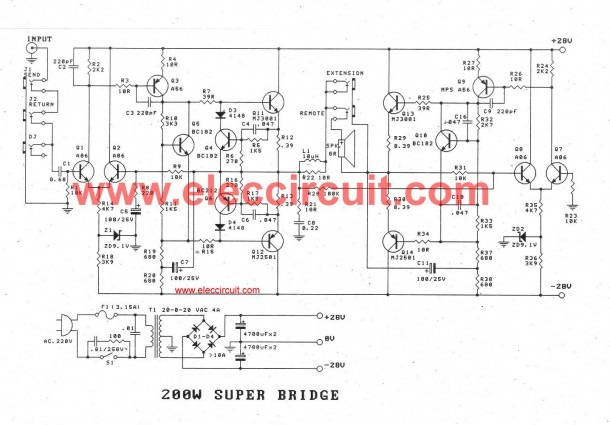 Bridge Amp Diagram