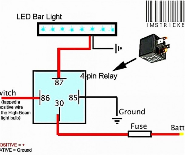 To Led Light Bar Wiring Diagram For Fuse Block