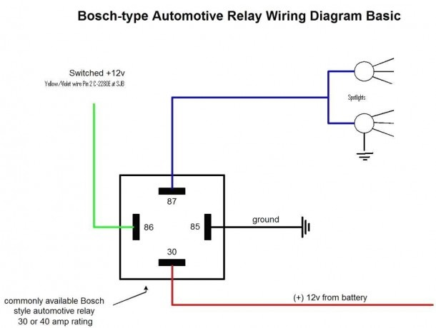 Diagram 4 Wire Relay Pigtail