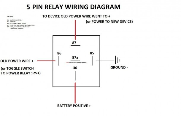 5 Wire Relay Wiring Diagram