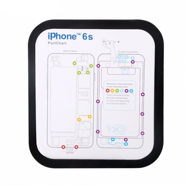 Magnetic Screw Keeper Memory Chart Mat For Iphone 6 6s Plus 7 7
