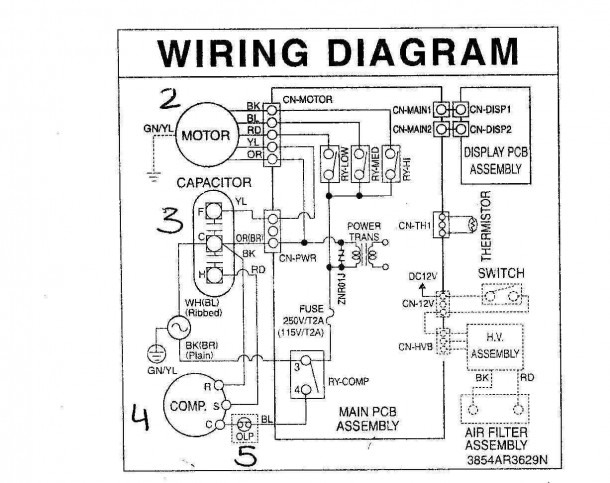 York Air Conditioner Wiring Diagram on lwhd8000ry6, ph15nb03600g, for auto, duo therm rv, split system, frigidaire window,