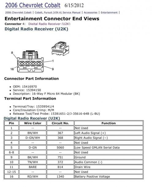 2006 Chevy 2500 Radio Wiring Harness