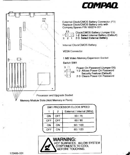 Compaq Prolinea 575 Pc Computer Resources Page