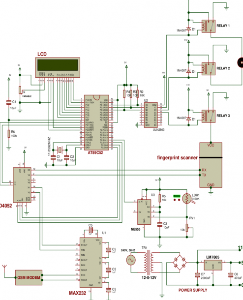 Complete Circuit Diagram Of The Gsm