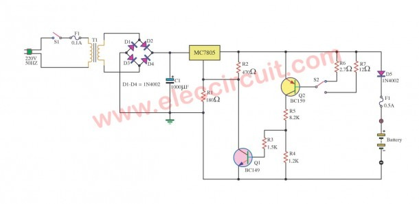 Constant Current Battery Charger Circuit