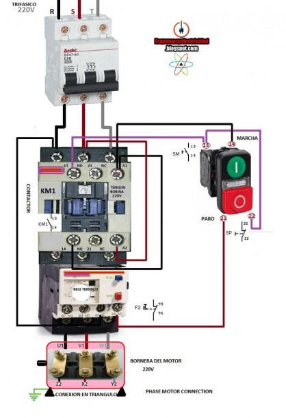 Auxiliary Contactor 3 Pole Contactor Wiring Diagram