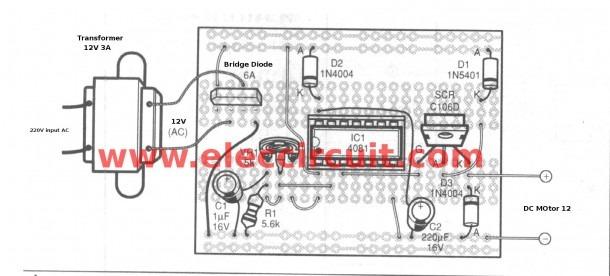Scr Dc Motor Speed Control Circuit Using Ic