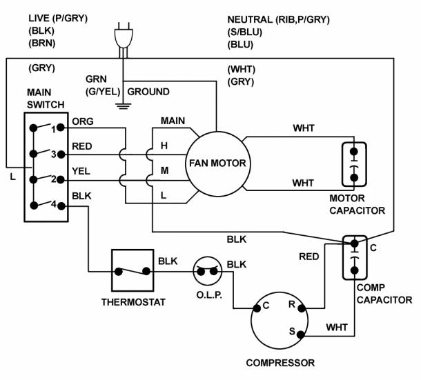 3 Speed Ac Motor Wiring Diagram