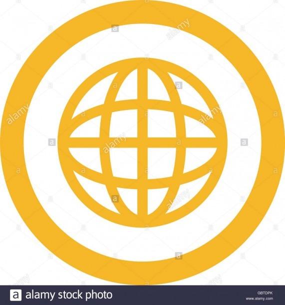 Earth Globe Diagram Inside Circle Icon Stock Vector Art