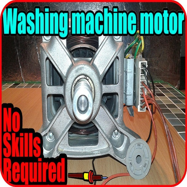 How To Use A Washing Machine Motor  6 Steps