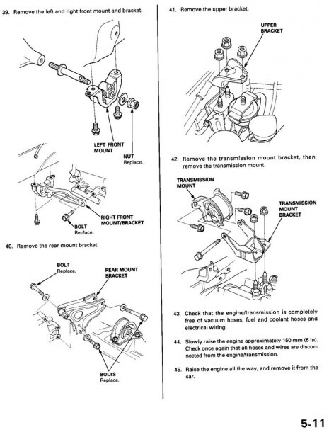 Replacing The Engine Mounts On My Honda Civic 1999    6 Steps