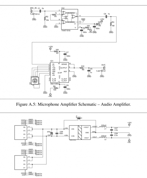 Figure A 6  Microphone Amplifier Schematic