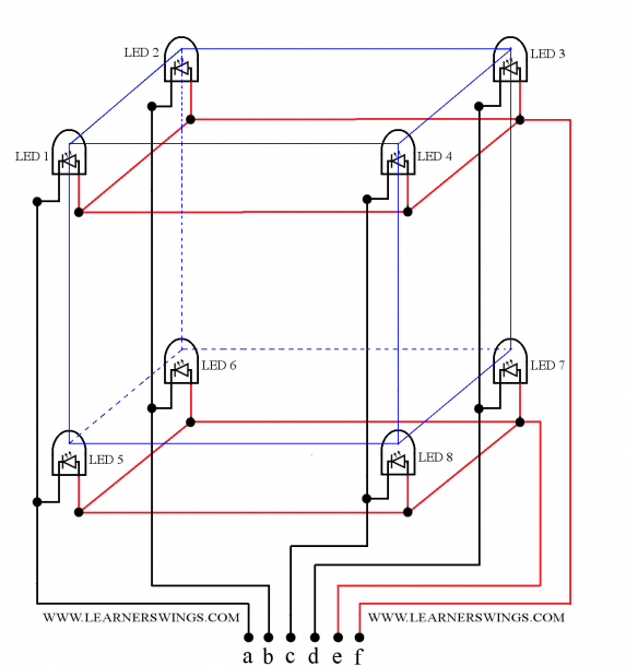 Led Cube Wiring Diagram