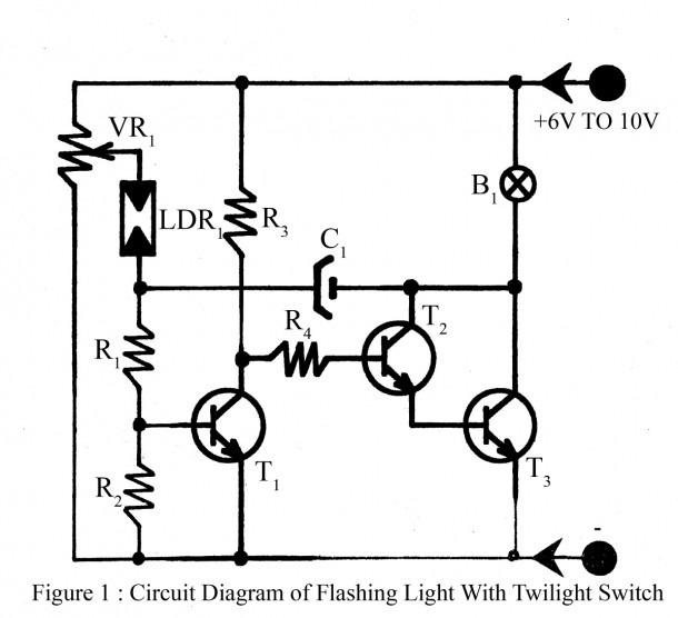 Flashing Light With Twilight Switch