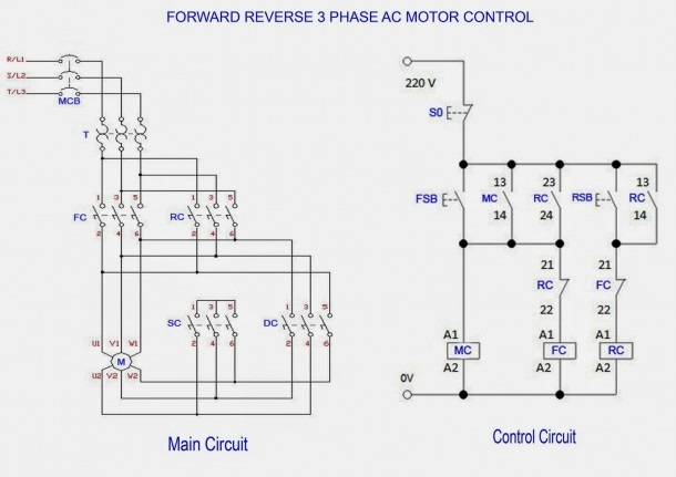 3 Phase Motor Internal Wiring Diagram