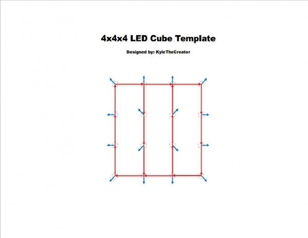 4x4x4 Led Cube (arduino Uno)  7 Steps (with Pictures)