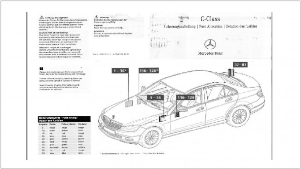 220 Benz Fuse Box Diagram