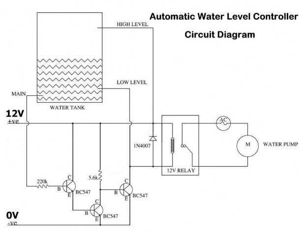 Water Level Control Circuit Remotecontrolcircuit Circuit Diagram