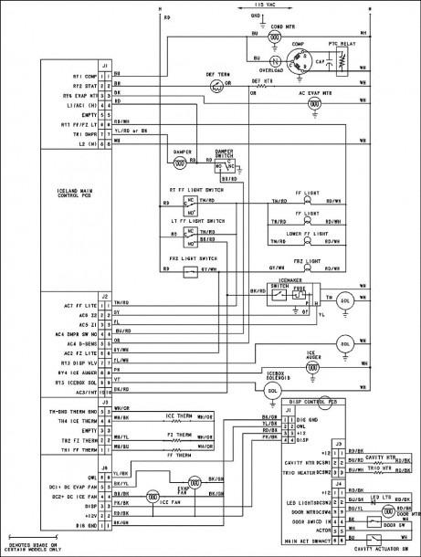 Gss25jsress Ge Refrigerator Wiring Diagram Wiring Diagrams