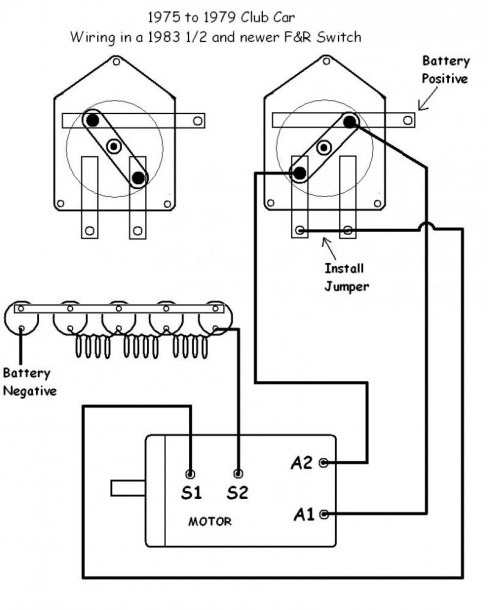 Club Cart Wiring Diagram Reversing Switch