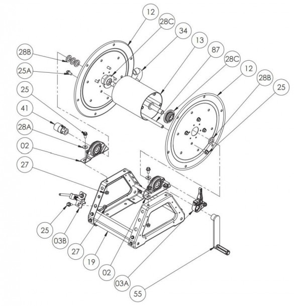 Reel Parts Diagram