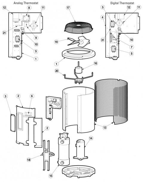 Hayward Heatpro Heat Pump Hp2100 Replacement Part Schematic