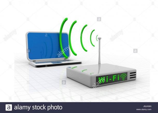 Home Wireless Network Diagram Stock Photos & Home Wireless Network