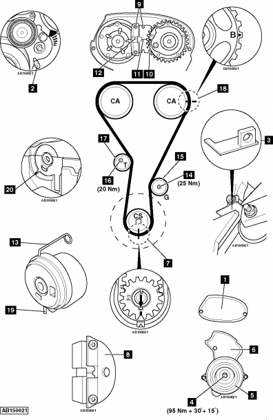 Engine Belt Diagram