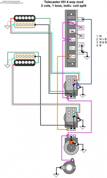 4 Way Switch Wiring Diagram Guitar from www.mikrora.com