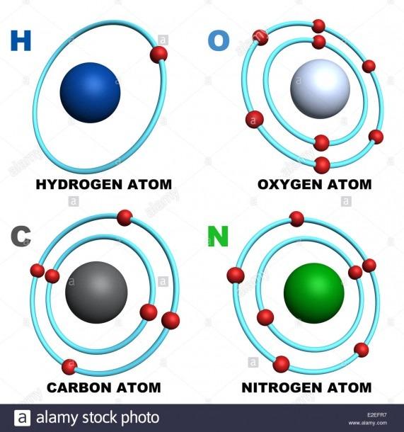 Nitrogen Atom Stock Photos & Nitrogen Atom Stock Images