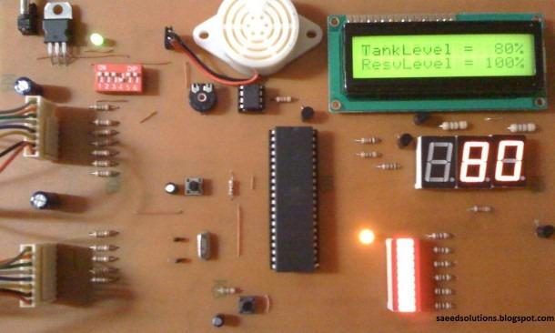 Water Level Indicator Using Atmega16 Microcontroller